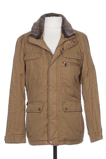peter cofox manteaux homme de couleur marron