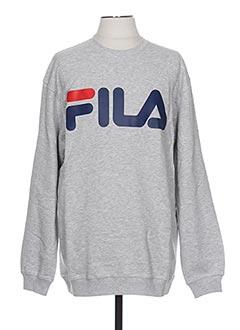Sweat-shirt gris FILA pour homme