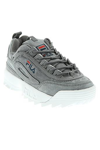 fila chaussures femme de couleur gris