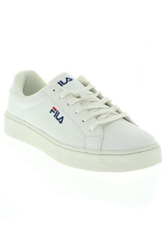 fila chaussures femme de couleur blanc