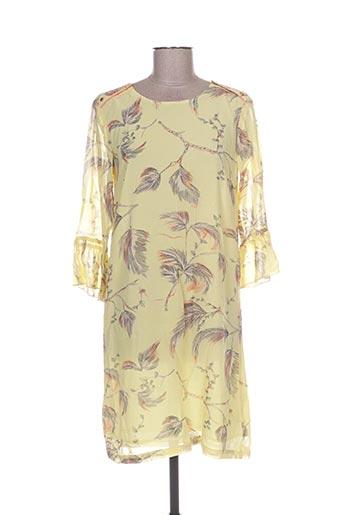 Robe mi-longue jaune CULTURE pour femme