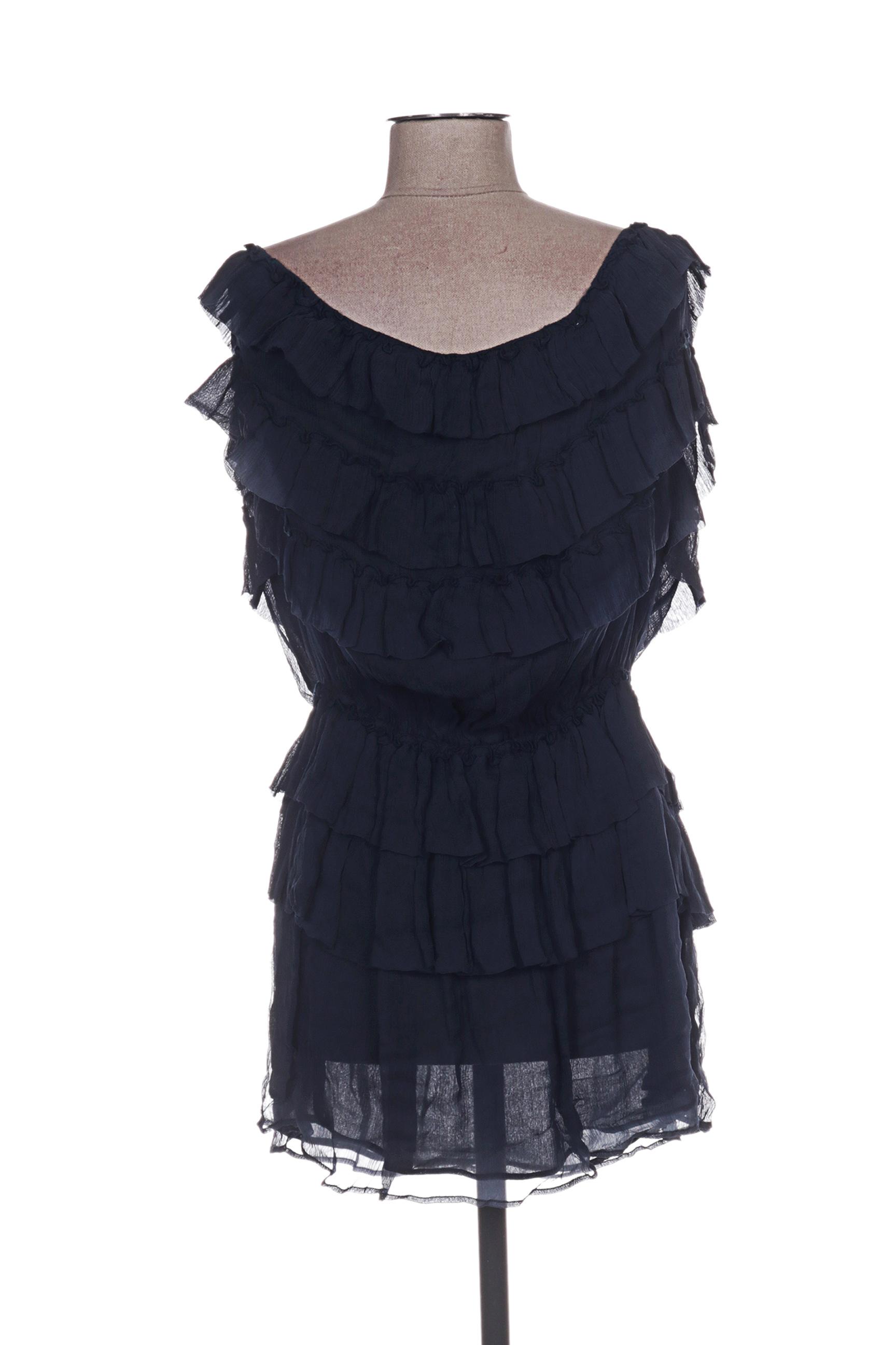 Belair Robes Courtes Femme De Couleur Bleu En Soldes Pas Cher 1261414-bleu00