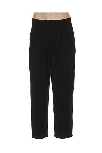 Pantalon casual noir COPENHAGEN pour femme