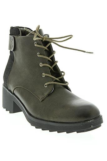 poti pati chaussures femme de couleur vert