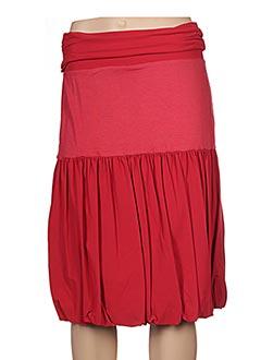 Jupe mi-longue rouge CASSIOPEE pour femme