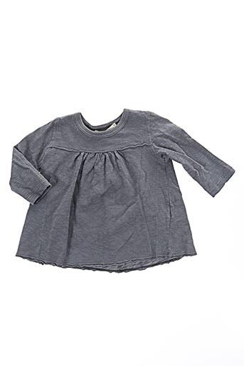 T-shirt manches longues gris BABE & TESS pour fille