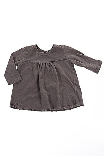 T-shirt manches longues marron BABE & TESS pour fille