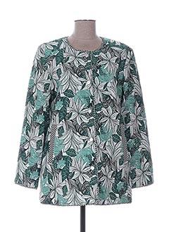 Manteau long vert CHARLISE pour femme