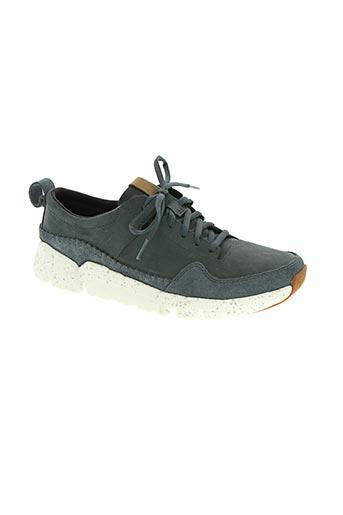 clarks chaussures homme de couleur bleu