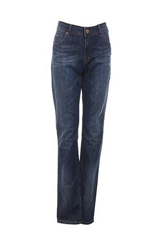 camps jeans fille de couleur bleu