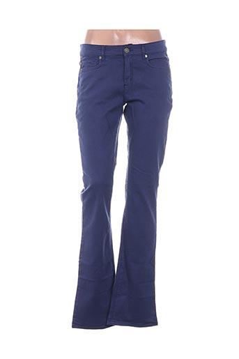 hampton bays pantalons femme de couleur bleu