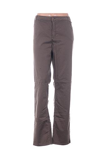 Pantalon casual marron ARMAND THIERRY pour femme