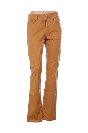 Pantalon casual jaune D.T.C pour femme