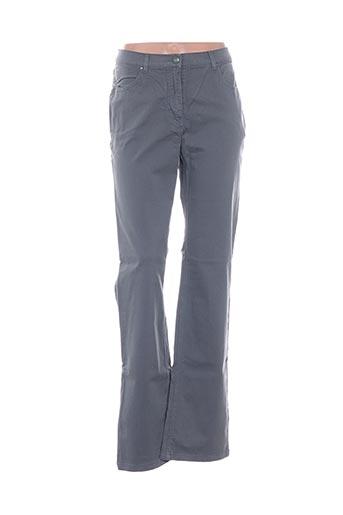 Pantalon casual gris D'AUVRY pour femme