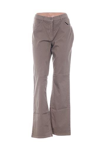 Pantalon casual marron D'AUVRY pour femme