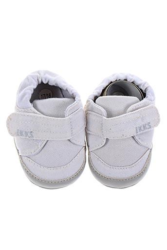 ikks chaussures garçon de couleur blanc