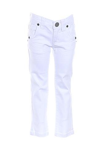confetti jeans fille de couleur blanc