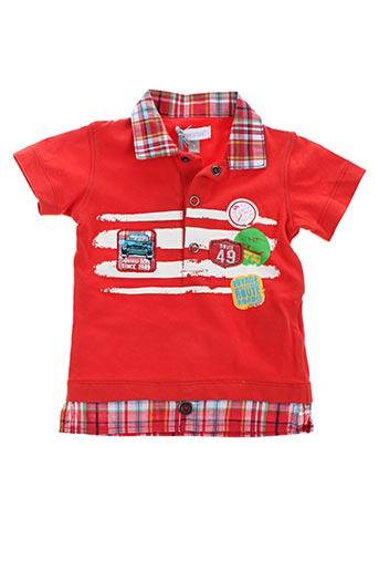 Polo manches courtes rouge ABSORBA pour garçon