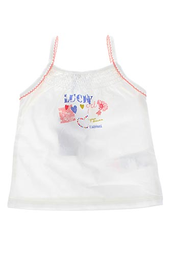 Top blanc ABSORBA pour fille