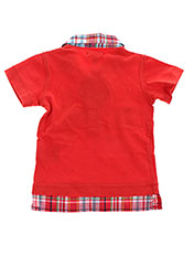 Polo manches courtes rouge ABSORBA pour garçon seconde vue