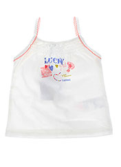 Top blanc ABSORBA pour fille seconde vue