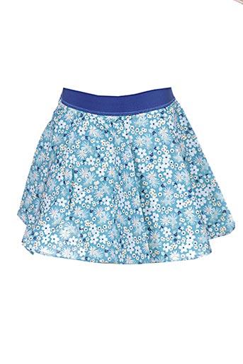 Jupe courte bleu APHELIOTE pour fille