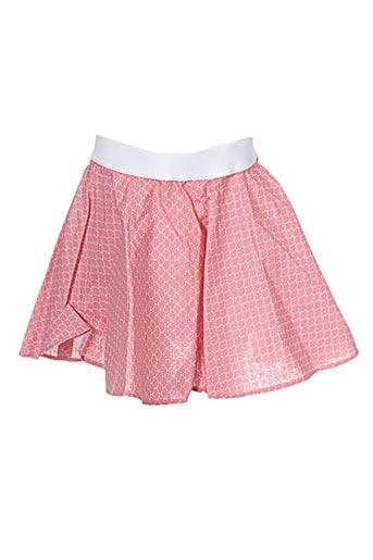 Jupe courte rose APHELIOTE pour fille