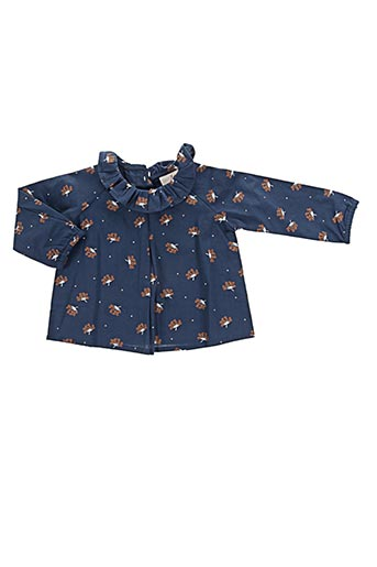lililotte chemises fille de couleur bleu