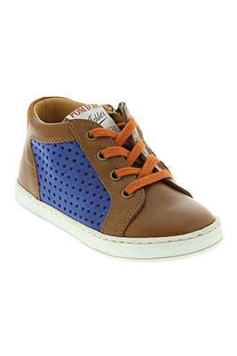 pom d'api chaussures garçon de couleur marron