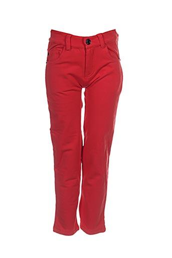 tuc tuc pantalons fille de couleur rouge