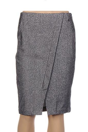 Jupe mi-longue gris SANDWICH pour femme
