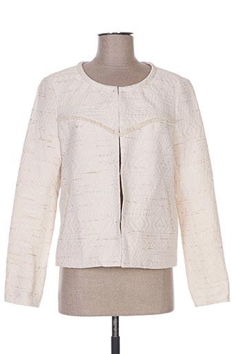 Veste casual beige COLOR BLOCK pour femme