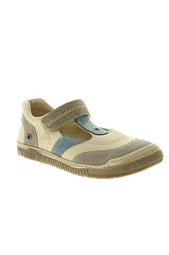 aster chaussures garçon de couleur beige