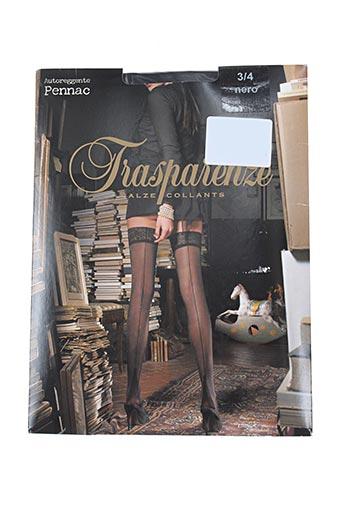 trasparenze lingerie femme de couleur noir