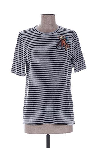 cks t-shirts femme de couleur gris