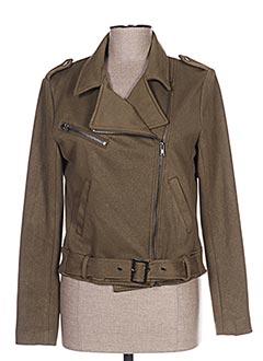 Veste casual vert ICHI pour femme