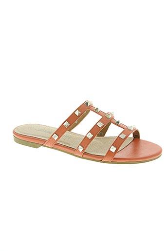 christine laure chaussures femme de couleur orange