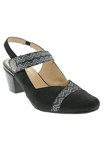 fugitive chaussures femme de couleur noir