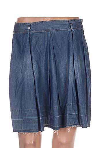 Jupe courte bleu BETWEEN pour femme