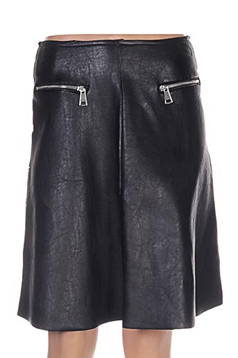 Jupe mi-longue noir BETWEEN pour femme