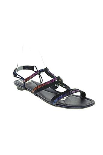 sms chaussures femme de couleur bleu