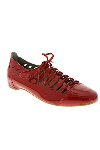 arcus chaussures femme de couleur rouge