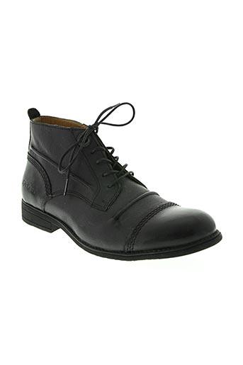 kickers chaussures homme de couleur noir