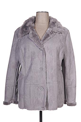 Veste simili cuir gris CONCEPT K pour femme