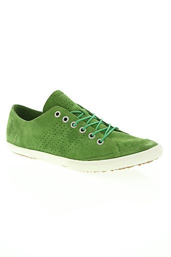 groundfive chaussures homme de couleur vert