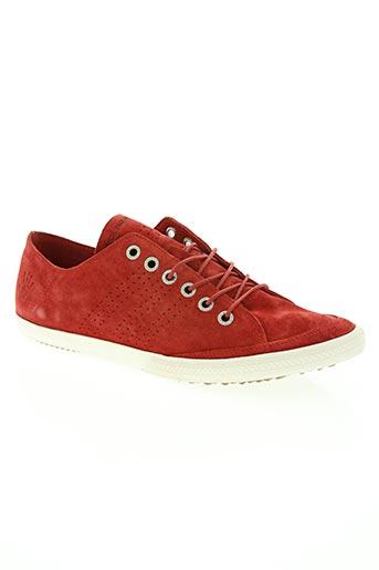 groundfive chaussures homme de couleur rouge