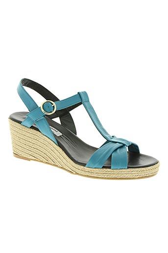 yves de beaumond chaussures femme de couleur bleu