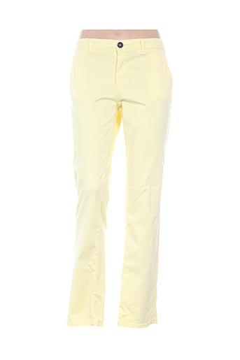 Pantalon casual jaune MKT STUDIO pour femme