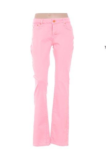 Pantalon casual rose CORLEONE pour femme