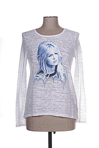 T-shirt manches longues blanc BRIGITTE BARDOT pour femme